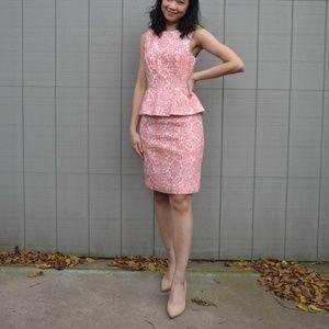 Patterned Peplum dress Sz 4
